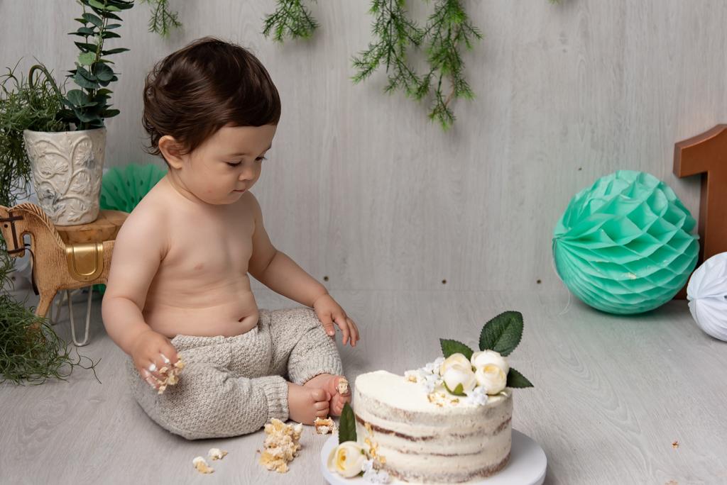 photo bebe smash the cake