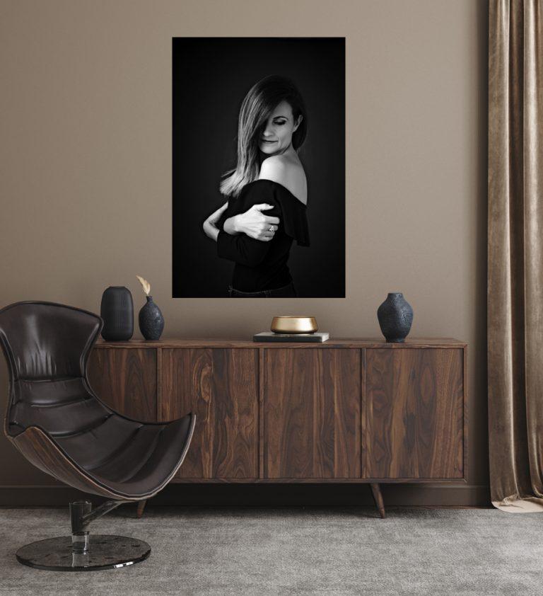 photo tableau portrait femme